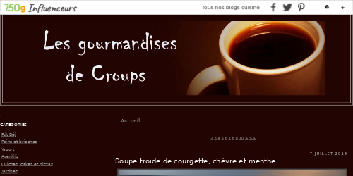 Les gourmandises de Croups