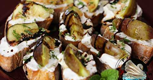 Crostini figues miel fromage