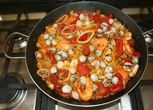 Paella aux fruits de mer (marinera) - amafacon