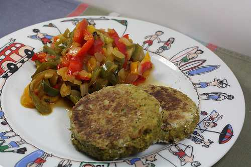 Galettes tofu & courgettes