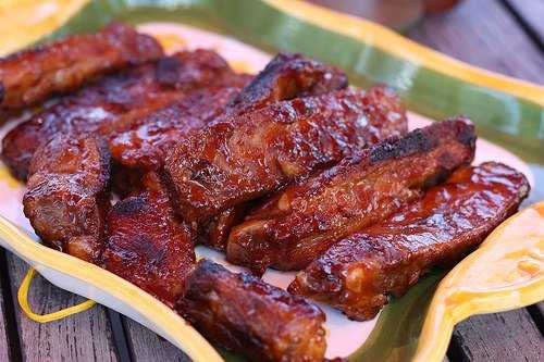 Ribs sauce barbecue
