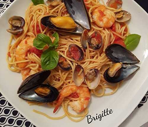 One pot Pasta aux fruits de mer