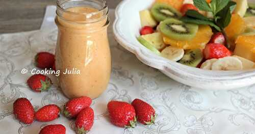 SMOOTHIE MULTIFRUITS ET SA SALADE DE FRUITS