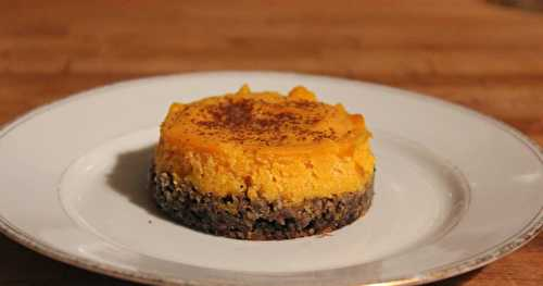 Cheesecake butternut-caroube