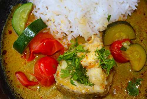 Curry jaune de poisson sauce Thaï