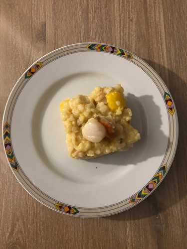 Risotto mangue,noix de St Jacques - Ève et ses mix
