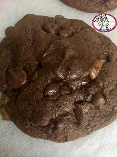 Cookies chocolat et coeur coulant Nutella - FabiCooking