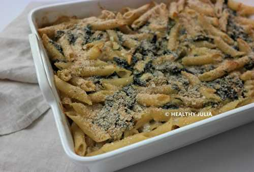 Healthy Julia: MAC AND CHEESE AUX ÉPINARDS ET ARTICHAUTS #VEGAN