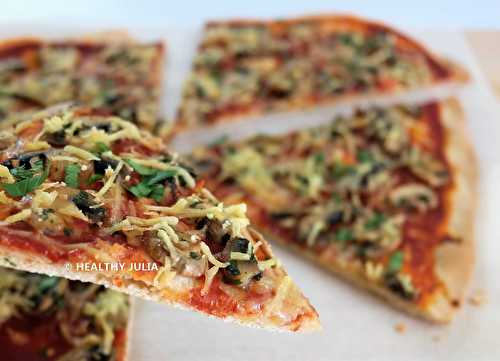 Healthy Julia: PIZZA AUX CHAMPIGNONS #VEGAN