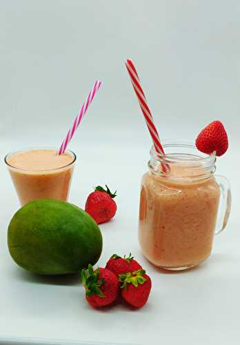 Froyo smoothie fraises mangue