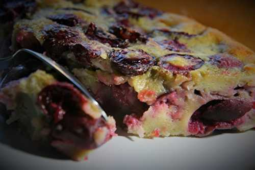 Coconut Cherry Clafoutis
