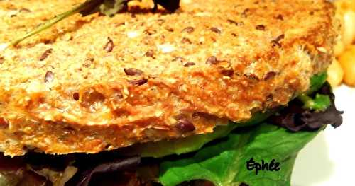Grilled cheese avocat-tempeh