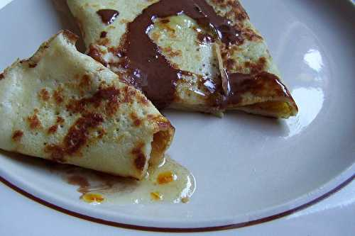 Crêpes du week-end: à la marmelade d'orange et au chocolat - La cuisine d'Anna