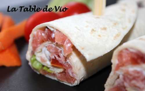 Wrap au saumon fumé - La table de Vio