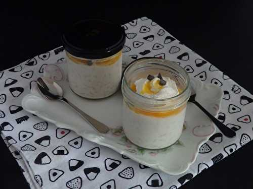 Riz au lait, coulis de fruits de la passion et Chantilly à la noix de coco - Le blog de Michelle - Plaisirs de la Maison