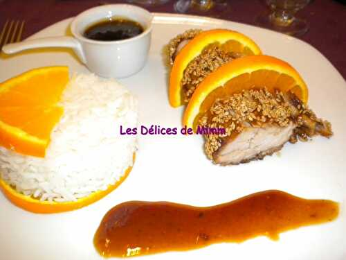 Filet mignon de porc au caramel d'orange - Les Délices de Mimm