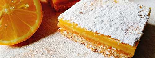 Carrés Citron-Coco ou Lemon and Coconut Squares