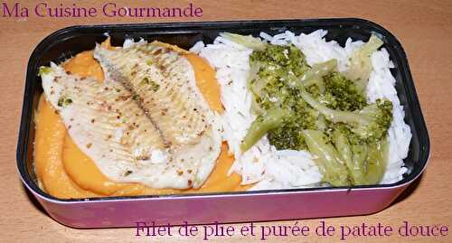 Bento time! Filet de plie brocoli patate douce