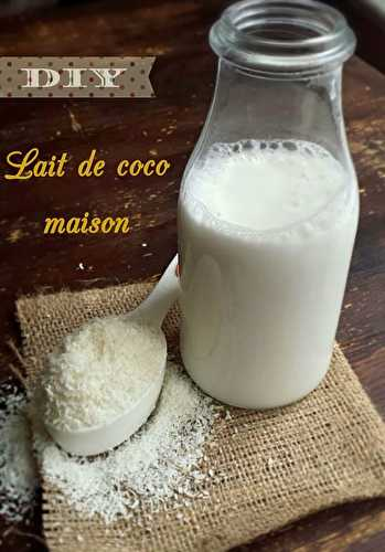 DIY : Lait de coco maison en quelques minutes - My healthy sweetness