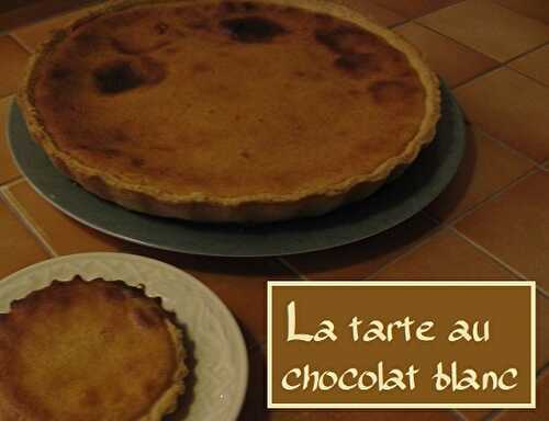 1 Recette facile, Tarte au chocolat blanc version 1