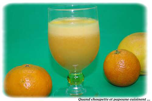 JUS DE FRUITS PAMPLEMOUSSE, ORANGE ET CITRON MAISON - Quand Choupette et Papoune cuisinent